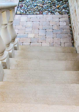 Custom Staircase and Natural Stone Veneer