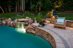 Custom Water Feature with Boulders
