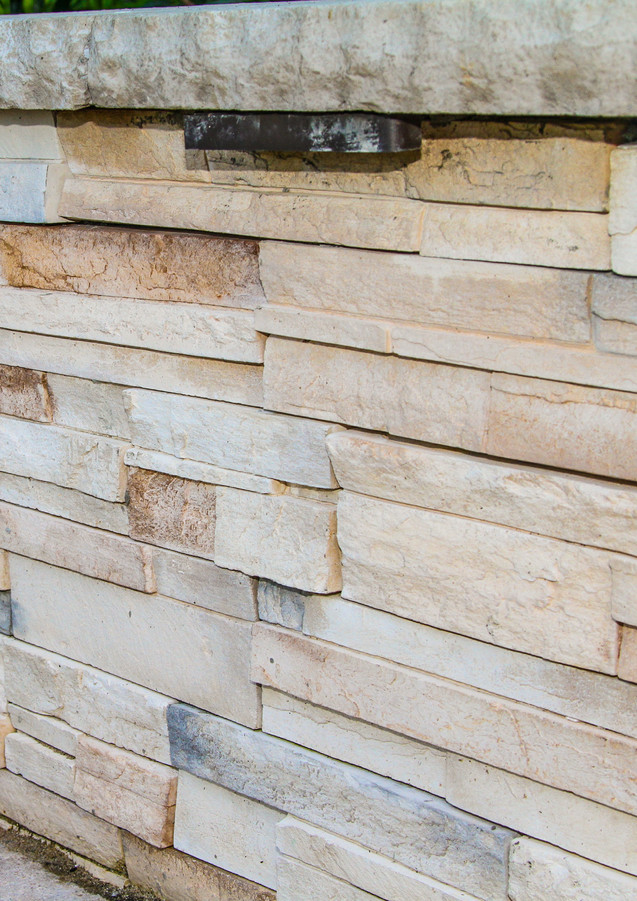 Natural Stone Flooring and Retaining Wall