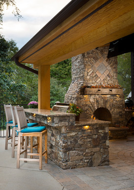 Outdoor Living with Covered Porch