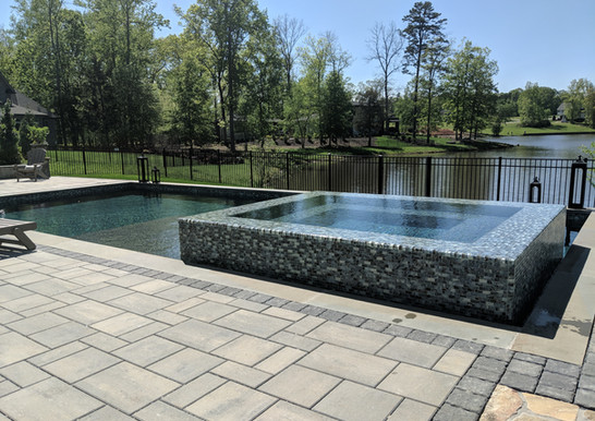 Pool by the lake
