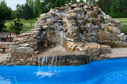 Custom Waterfall with Stacked Stone