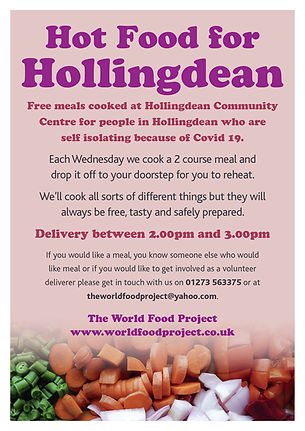 Hot Food for Hollingdean flier