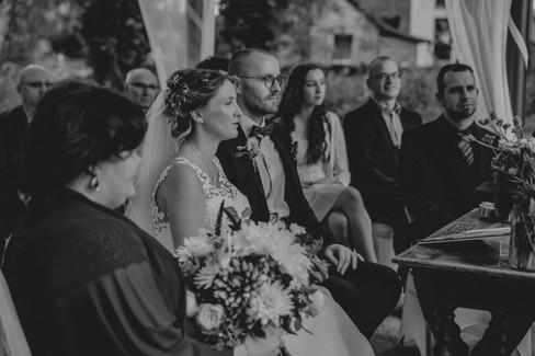 Schwarzweiß Hochzeitsfoto