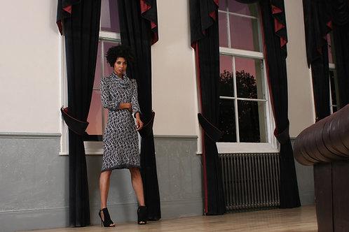 Long sleeved Pattern Dress