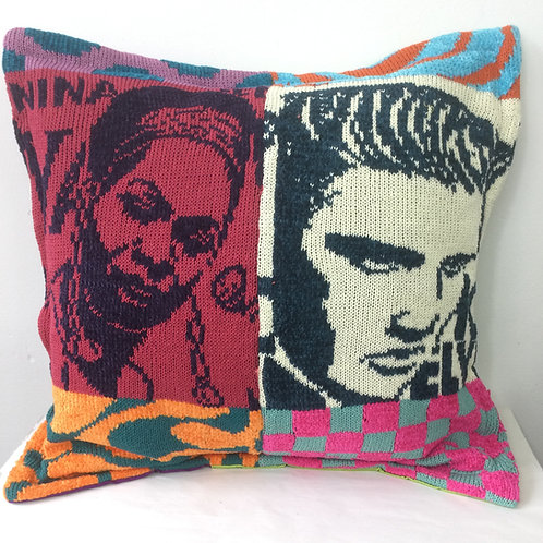 Nina and Elvis - POP Art cushion
