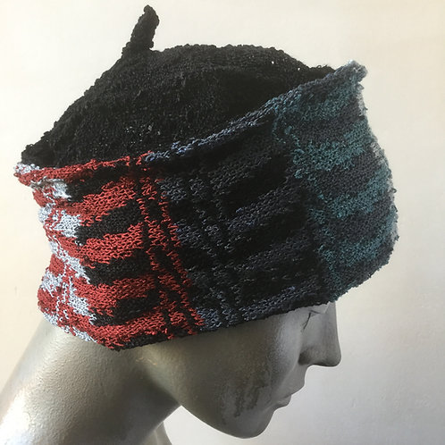 Viscose zig-zag knitted hat - various colours