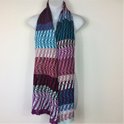 SAMPLE Zig-Zag Knitted Scarf
