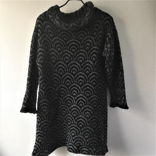 Pattern Black Charcoal Long Sweater