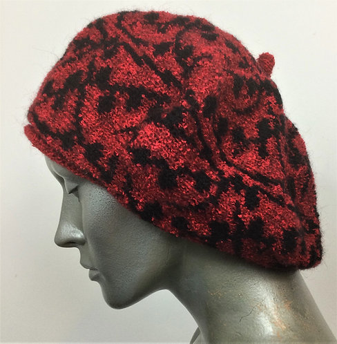 Mohair knitted beret - various colours