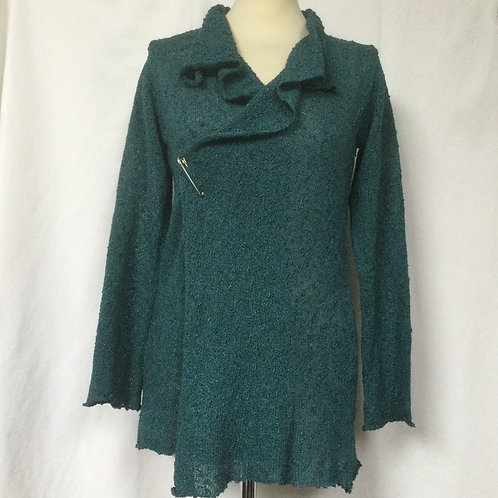 Teal Wide Pinned Jacket