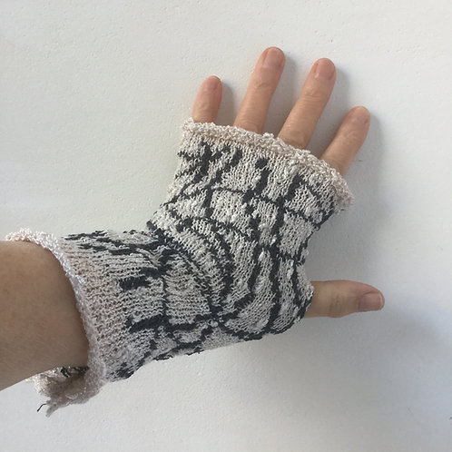 Viscose Mitts - two coloured