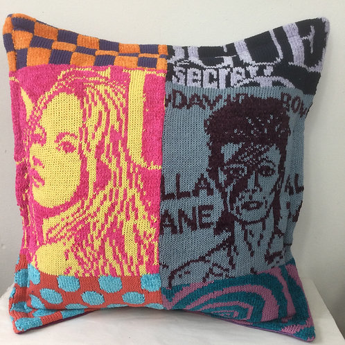 Kate Moss and Bowie - POP Art cushion