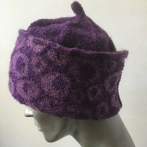 Mohair knitted banded hat - various colours