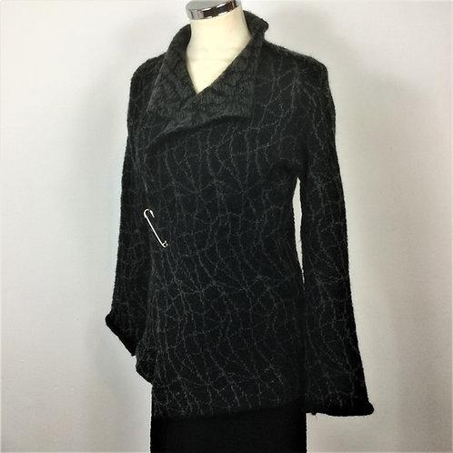 Shorter knitted mohair jacket