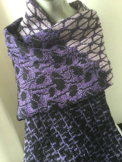 Knitted mohair scarf - 3 panel