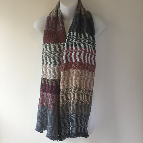 Zig Zag Pattern Knitted Scarf
