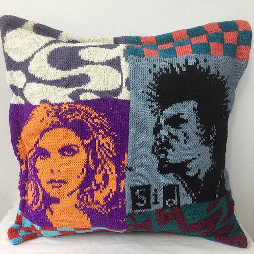 Sid and Blondie - POP ArtKnit cushion
