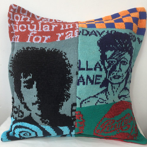 Dylan and Bowie - POP Art cushion