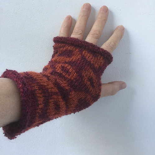 Mohair Boucle Mitts - various colours