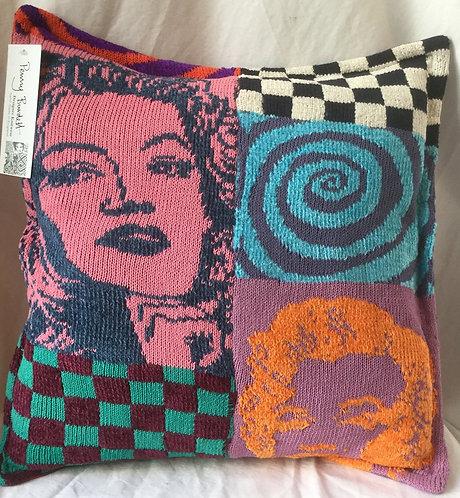 POP Artknit Cushion -  Gloria & Marilyn