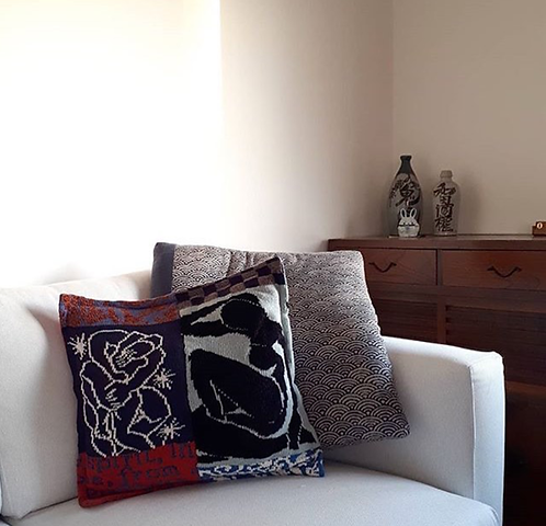 'Mostly Matisse' ArtKnit Cushions -Stars