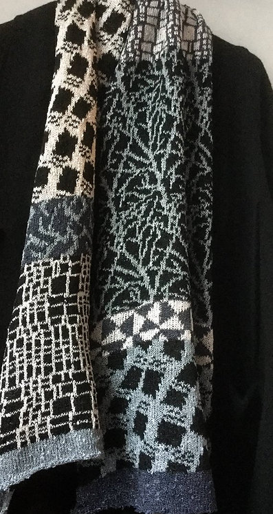 Five Pattern Knitted Scarf