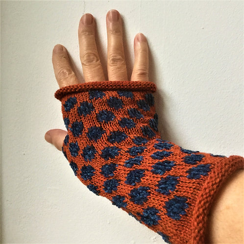 Wool Cheniile Mitts