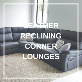 leather Reclining Corner Lounges