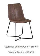 STANWELL DINING CHAIR - available in grey or brown