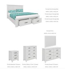 FLORIDA BEDROOM DOVER BEDROOM RANGE - Bedroom furniture