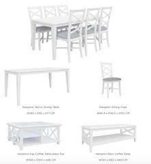 HAMPTON RANGE - living room furniture