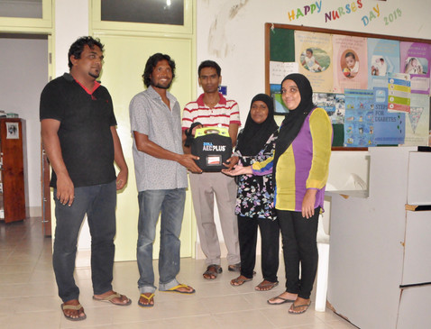 AMPED supplied 10 AEDs to remote healthcare centres