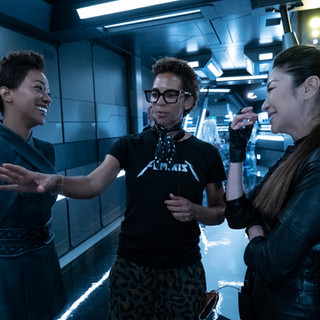 Star Trek Discovery - season 2 - blocking a fighting sequence for Michelle Yeoh and Sonequa Martin Green
