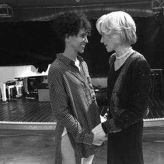Marta with Judith Light on set of Amazon's Transparent Season 3 Finale
