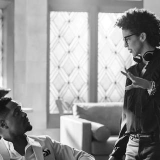 Marta examining  the scene with actor Blair Underwood on Netflix's Dear White People Season 3 ep 2