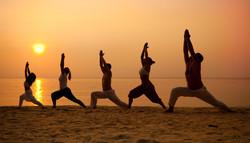yoga group warrior 1