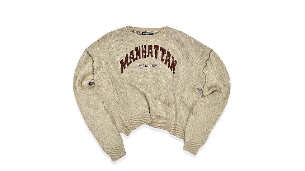 "Manhattan Art Studio Knit ""Oat"""