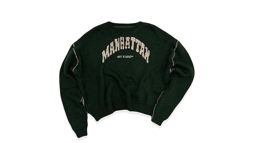 "Manhattan Art Studio Knit ""Green"""