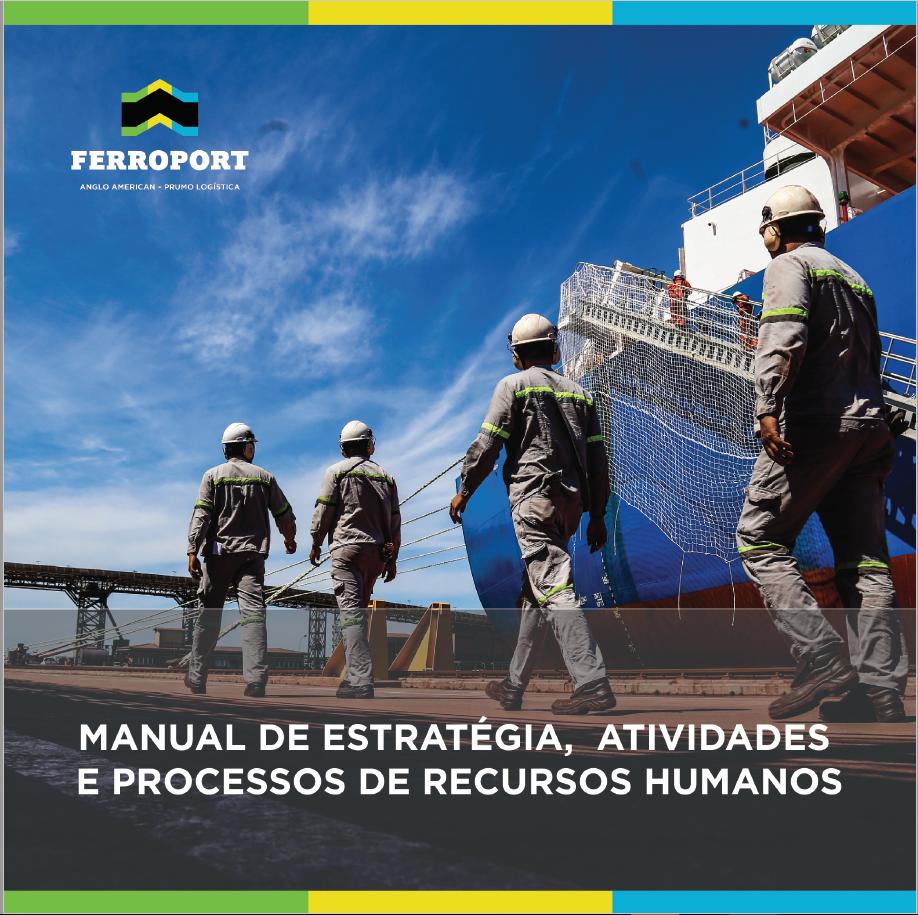 Criação do projeto gráfico, revisão de texto e diagramação do Manual de Estratégia, Atividades e Processos de Recursos Humanos.