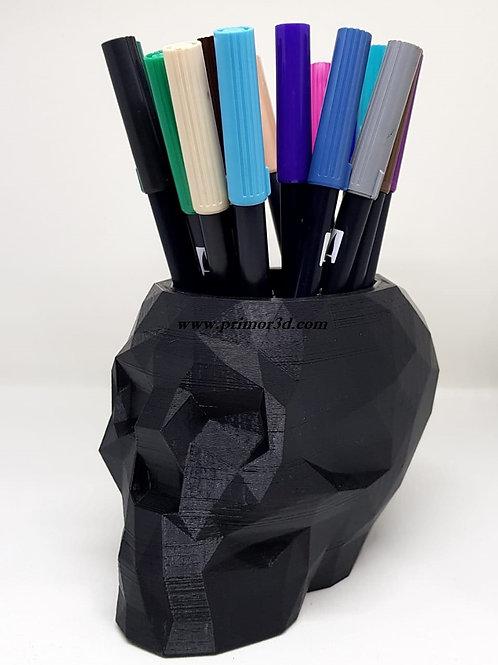Caveira - porta canetas