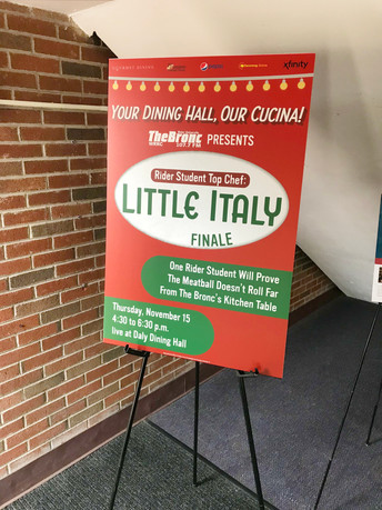 Rider Student Top Chef: Little Italy Visual Identity