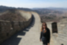 RaNae Schmidt at the Great Wall of China