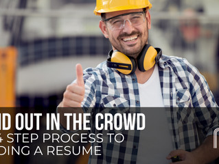 Stand Out in the Crowd - The 4 Step Process to Building a Resume