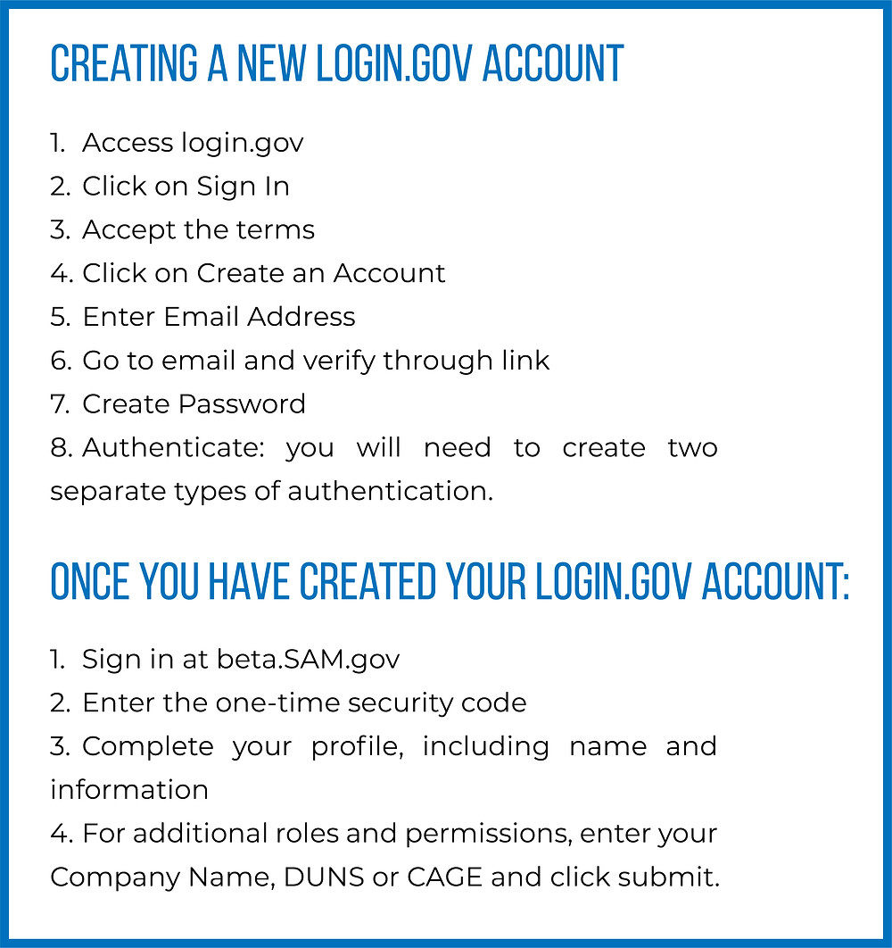 How to create a login.gov account