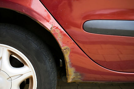 Rust is eating away vehicles' wheel arch