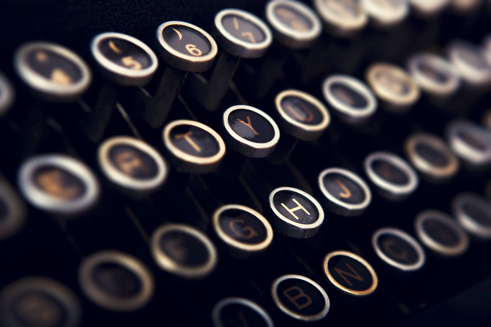 typewriter keys closeup - shutterstock_9