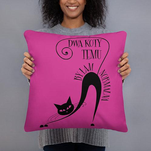 Basic Pillow Dwa Koty Temu Fuksja