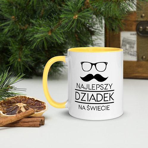 Mug with Color Inside Najlepszy Dziadek