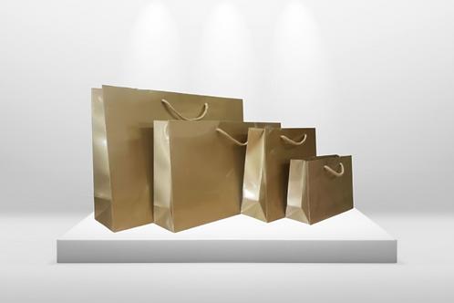 LUXURY SHOPPING BAG GOLD